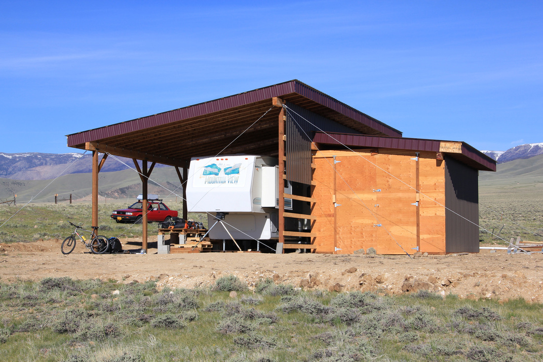 Rv pole barn with living space joy studio design gallery for Rv pole barn plans